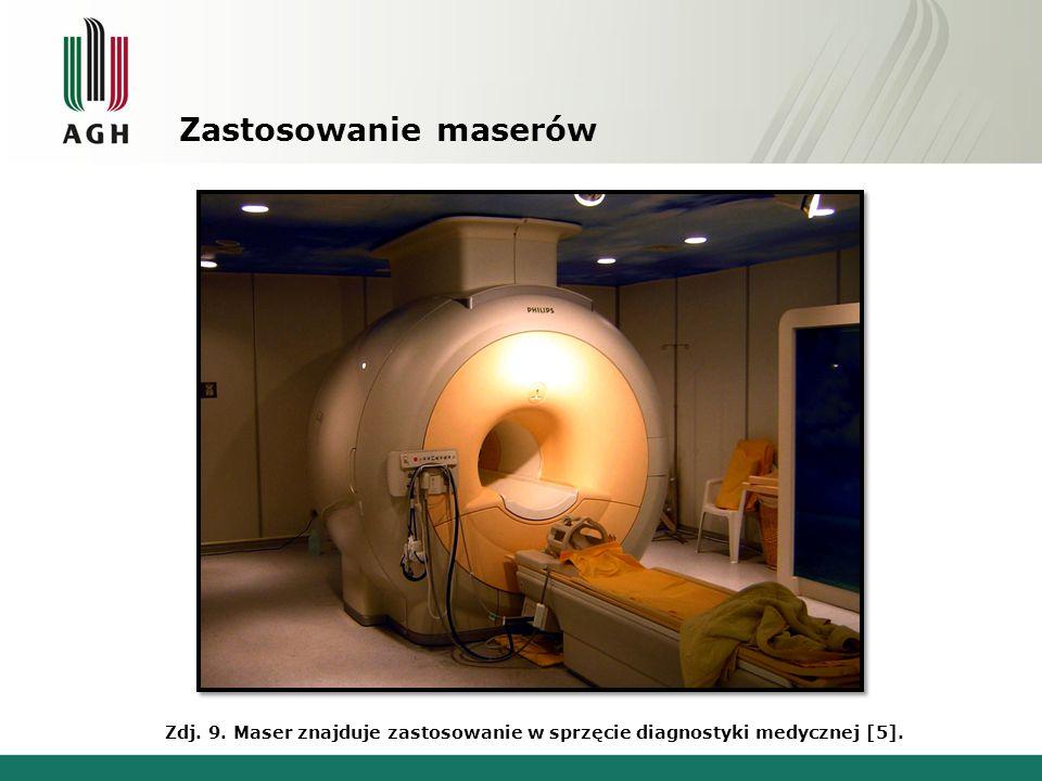 Zastosowanie maserów Zdj. 9. Maser znajduje zastosowanie w sprzęcie diagnostyki medycznej [5].